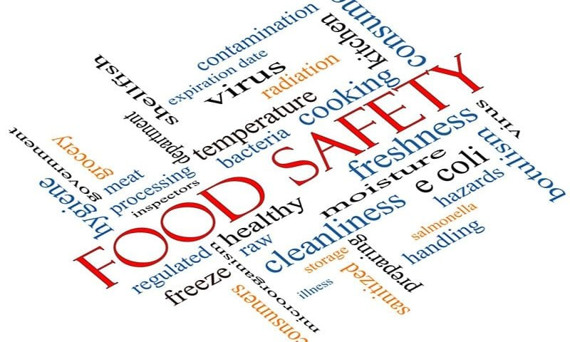 different words that could be associated with food safety and hygiene