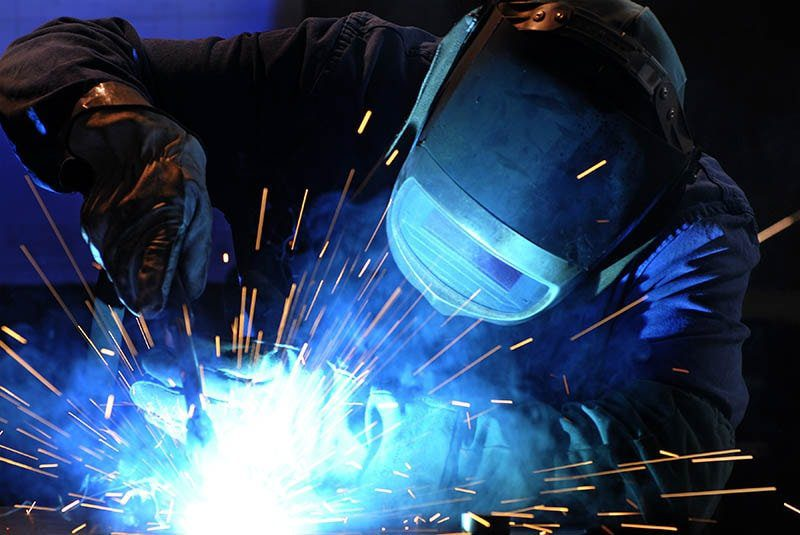 man carrying out welding operation